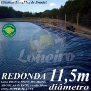 Lona para Lago Tanque de Peixes PP/PE: 11,5m de diâmetro Redonda Azul/Cinza para Lagos Artificiais, Armazenagem de Água e Cisterna