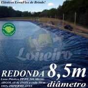 Lona para Lago Tanque de Peixes PP/PE 8,5m Azul/Preto de diâmetro Redonda Azul/Cinza para Lagos Artificiais, Armazenagem de Água e Cisterna