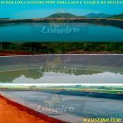Lona para Lago Tanque de Peixes PP/PE: 10,5 x 5,0m Azul/Cinza impermeável e atóxica para Lago Artificial, Armazenagem de Água e Cisterna