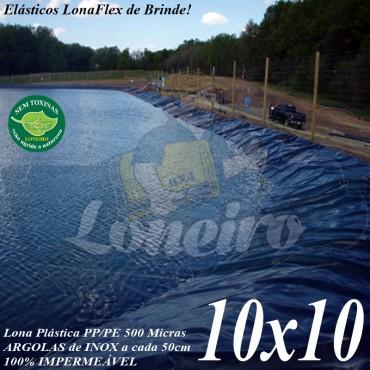 Lona para Lago Tanque de Peixes PP/PE: 10,0 x 10,0m Prata/Branca impermeável e atóxica para Lago Artificial, Armazenagem de Água e Cisterna
