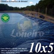 Lona para Lago Tanque de Peixes PP/PE: 10,0 x 5,0m Azul/Cinza impermeável e atóxica para Lago Artificial, Armazenagem de Água e Cisterna