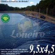 Lona para Lago Tanque de Peixes PP/PE 9,5 x 4,5m Azul/Cinza impermeável e atóxica para Lago Artificial, Armazenagem de Água e Cisterna