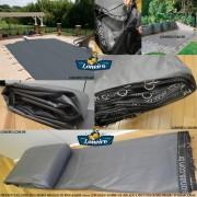 Capa para Piscina Super 7,0 x 3,5m PP/PE Cinza - Preto Capa Térmica Premium +58m+58p+3b