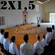 Lona 2,0 x 1,5m Premium para Tatame Anti-Derrapante Cotton RipStop Encerado de Algodão Caqui : Akido Judo JiuJitSu Muay-Thay Boxe MMA UFC Academias