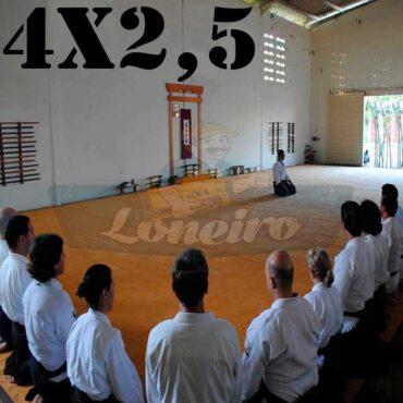 Lona 4,0 x 2,5m para Tatame Encerado Algodão Premium Anti-Derrapante Cotton RipStop Caqui : Akido Judo JiuJitSu Muay-Thay Boxe MMA UFC Academias
