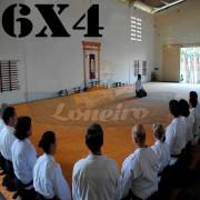 Lona 6,0 x 4,0m para Tatame Encerado Algodão Premium Anti-Derrapante Cotton RipStop Caqui : Akido Judo JiuJitSu Muay-Thay Boxe MMA UFC Academias