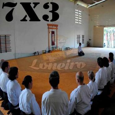 Lona 7,0 x 3,0m para Tatame Encerado Algodão Premium Anti-Derrapante Cotton RipStop Caqui : Akido Judo JiuJitSu Muay-Thay Boxe MMA UFC Academias