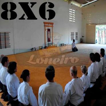 Lona 8,0 x 6,0m para Tatame Encerado Algodão Premium Anti-Derrapante Cotton RipStop Caqui : Akido Judo JiuJitSu Muay-Thay Boxe MMA UFC Academia