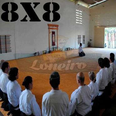 Lona 8,0 x 8,0m para Tatame Encerado Algodão Premium Anti-Derrapante Cotton RipStop Caqui : Akido Judo JiuJitSu Muay-Thay Boxe MMA UFC Academia