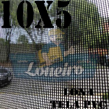 "Lona: 10,0 x 5,0m Tela Premium PVC Preta Vinil Vinílica Sombrite AntiChamas com Argolas ""D"" INOX a cada 50cm"