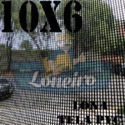 "Lona: 10,0 x 6,0m Tela Premium PVC Preta Vinil Vinílica Sombrite AntiChamas com Argolas ""D"" INOX a cada 50cm"