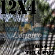 "Lona: 12,0 x 4,0m Tela Premium PVC Preta Vinil Vinílica Sombrite AntiChamas com Argolas ""D"" INOX a cada 50cm"