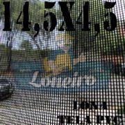 "Lona: 14,5 x 4,5m Tela Premium PVC Preta Vinil Vinílica Sombrite AntiChamas com Argolas ""D"" INOX a cada 50cm"