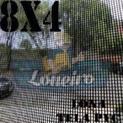 "Lona 8,0 x 4,0m Tela Premium PVC Preta Vinil Vinílica Sombrite AntiChamas com Argolas ""D"" INOX a cada 50cm"