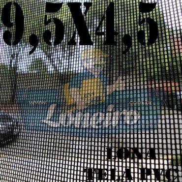 "Lona 9,5 x 4,5m Tela Premium PVC Preta Vinil Vinílica Sombrite AntiChamas com Argolas ""D"" INOX a cada 50cm"