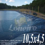 Lona para Lago Tanque de Peixes PP/PE: 10,5 x 4,5m Azul / Cinza para Lago Ornamental, Poço, Ranário, Armazenagem de Água e Cisterna