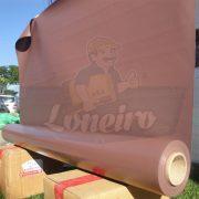Tecido Lona de Vinil Marrom 30x1,57 Metros PVC Bobina Impermeável Malha Fio 1000 Super Resistente para toldos tendas revestimentos cobertura proteção