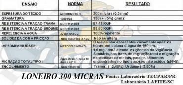 LONEIRO ESPECIFICAÇÃO 300 MICRAS