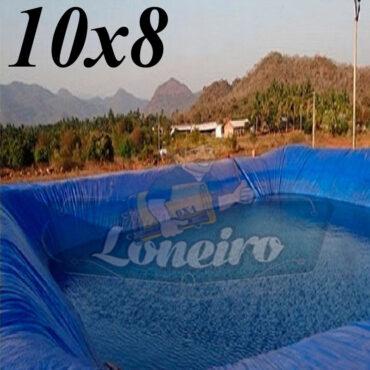 Lona: 10,0 x 8,0m Azul 300 Micras Impermeável Atóxica Lagos Artificiais Tanques de Peixes Reservatórios Água Potável Cisterna Ranário Poços