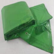 Lona 6,5 x 3,5m Verde PVC HOT ASPHALT RESISTÊNCIA de + 200°C Caminhão Vinil Lonil Transporte Massa Asfalto Quente CBUQ + 20 Extensores 40cm