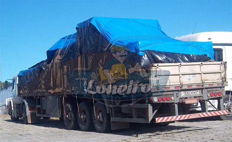 Lona Azul Plástica Carreta Forro Caminhão