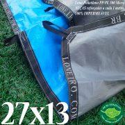 Lona-Gigante-Grande-27x13-com-Cinza-Azul-Alças-para-Prender-Lago-Piscina-Tanque-Peixe-Armazenagem-agua-ranario-Cobertura-Proteção-Amarrar-Loneiro