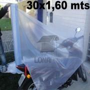 Bobina Rolo Lona Transparente 30x1,60 m Rolo PVC Vinil Premium de 600 Micras Sem Acabamento