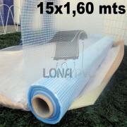 Bobina Rolo Lona Transparente 15x1,60 m Rolo PVC Vinil Premium de 600 Micras Sem Acabamento