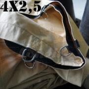 Lona 4,0 x 2,5m Encerado Premium Cotton RipStop de Algodão Caqui Areia para Caminhão Cobertura Carro Carretinha