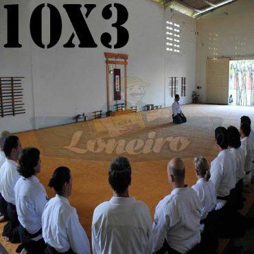 Lona: 10,0 x 3,0m para Tatame Encerado Algodão Premium Anti-Derrapante Cotton RipStop Caqui : Akido Judo JiuJitSu Muay-Thay Boxe MMA UFC Academia