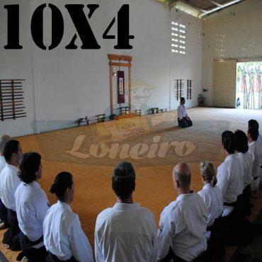 Lona: 10,0 x 4,0m para Tatame Encerado Algodão Premium Anti-Derrapante Cotton RipStop Caqui : Akido Judo JiuJitSu Muay-Thay Boxe MMA UFC Academia