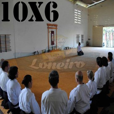Lona: 10,0 x 6,0m para Tatame Encerado Algodão Premium Anti-Derrapante Cotton RipStop Caqui : Akido Judo JiuJitSu Muay-Thay Boxe MMA UFC Academia