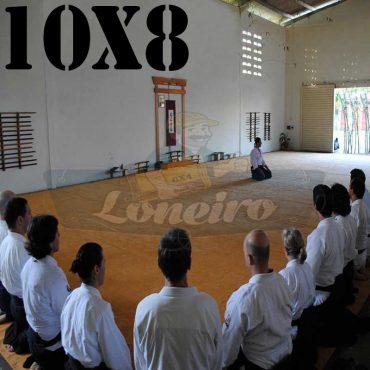 Lona: 10,0 x 8,0m para Tatame Encerado Algodão Premium Anti-Derrapante Cotton RipStop Caqui : Akido Judo JiuJitSu Muay-Thay Boxe MMA UFC Academia