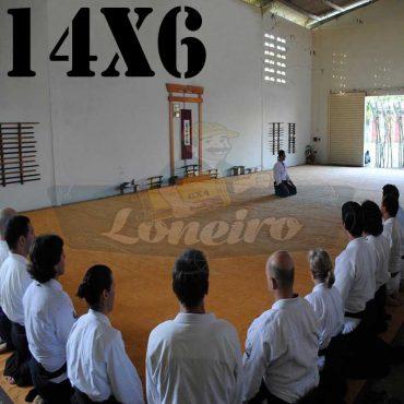 Lona: 14,0 x 6,0m para Tatame Encerado Algodão Premium Anti-Derrapante Cotton RipStop Caqui : Akido Judo JiuJitSu Muay-Thay Boxe MMA UFC Academia