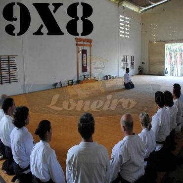 Lona 9,0 x 8,0m para Tatame Encerado Algodão Premium Anti-Derrapante Cotton RipStop Caqui : Akido Judo JiuJitSu Muay-Thay Boxe MMA UFC Academia