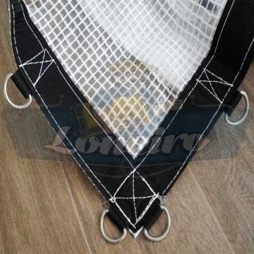 Lona transparente com argolas 400 micras ML