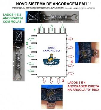 Novo sistema de Ancoragem em L para Capa para Piscina LONEIRO