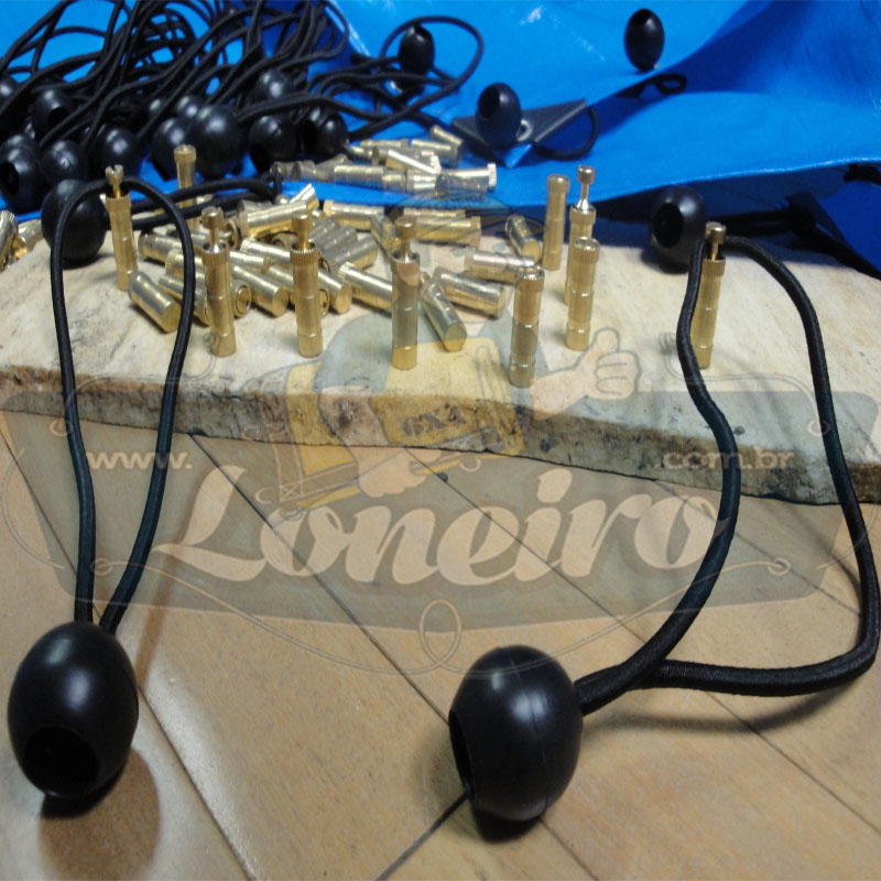 Capa de Piscina: 10,0 x 7,0m Azul 300 Micras + 34 el 20cm , 34 pinos e 4 bóias para escoamento d