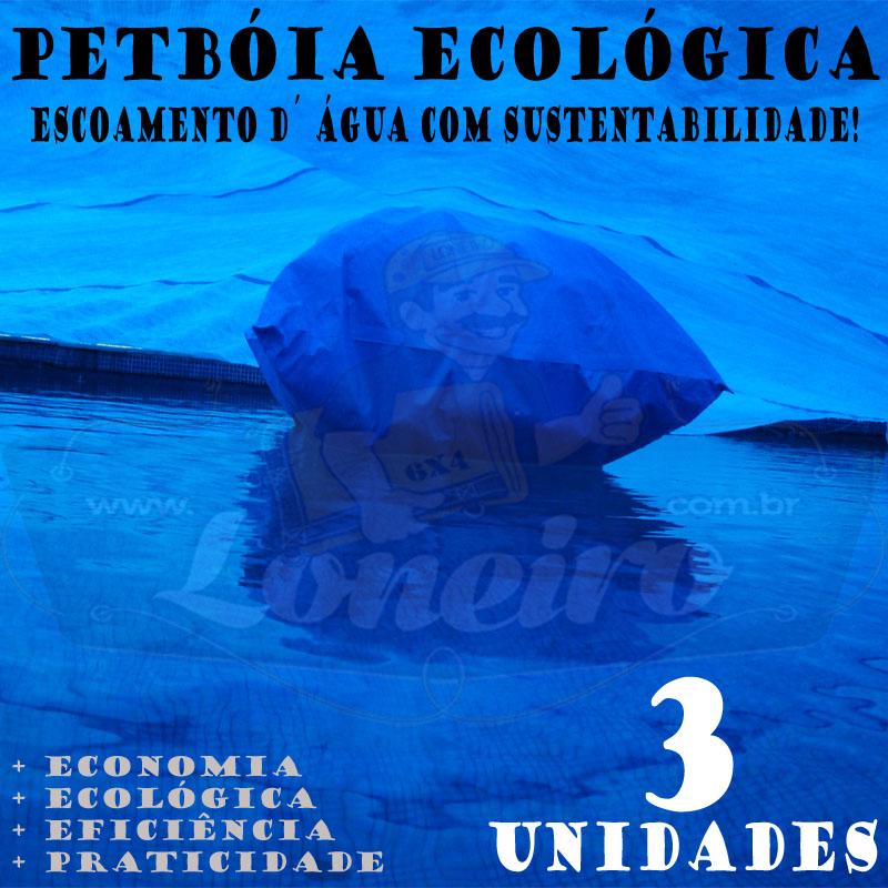 3 PetBóia Ecológica com 42m de corda, 12 Lonafix, 1 Batedor e 24 Elásticos LonaFlex 20cm