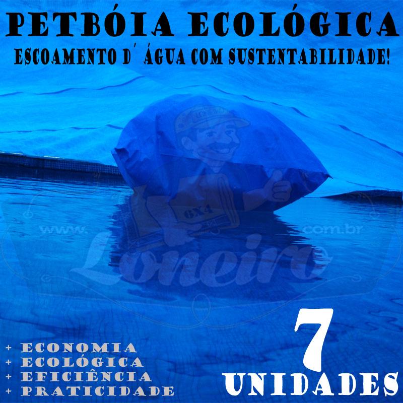 7 PetBóia Ecológica com 82m de corda, 28 Lonafix, 1 Batedor e 56 Elásticos LonaFlex 20cm