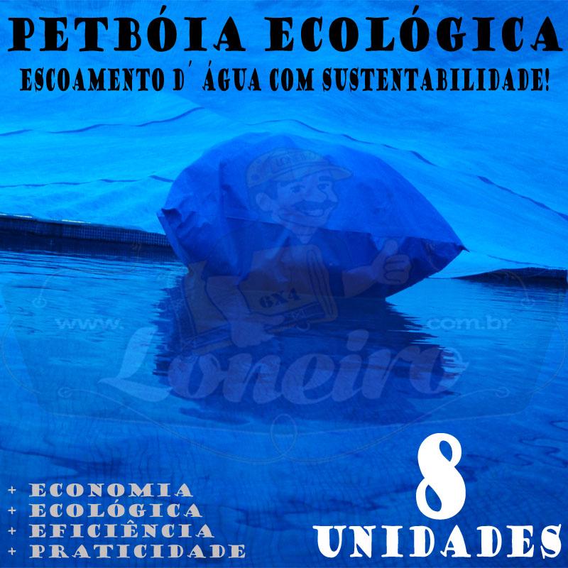 8 PetBóia Ecológica com 92m de corda, 32 Lonafix, 1 Batedor e 64 Elásticos LonaFlex 20cm