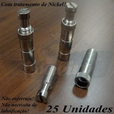 Novo Pino Gancho Nickel Cromado 25 Unidades LonaFix - Não enferruja, não precisa de lubrificação