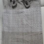 Rede de Descanso Marrom com Branco Artesanal com 4 metros Casal - Pernambucana Modelo de Franja Tradicional Feita em Algodão Tear