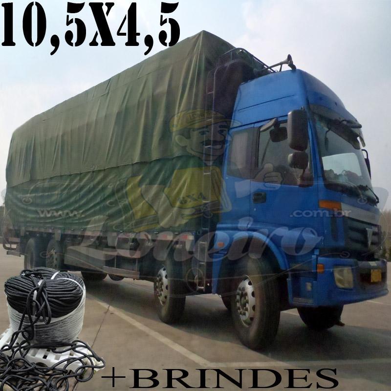 Lona: 10,5 x 4,5m Cotton Encerado RipStop Algodão Verde + Corda Preta 50m Poliéster Estática 10mm + 50m Corda 8mm com 1 ROW 0,75m