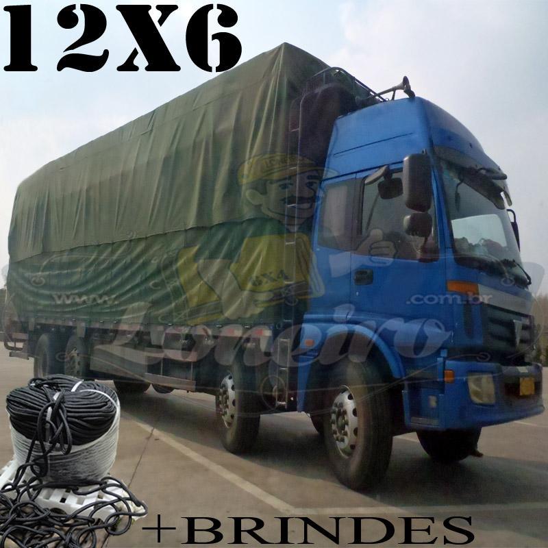 Lona: 12,0 x 6,0m Encerado RipStop Cotton Algodão Verde + Corda Preta 70m Poliéster Estática 10mm + 70m Corda 8mm com 1 ROW 0,75m