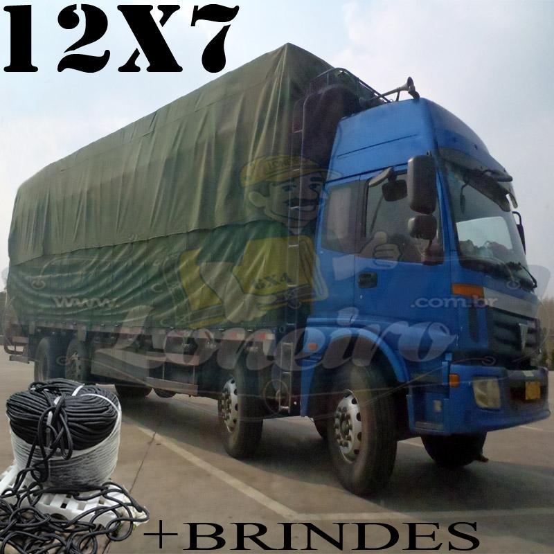 Lona: 12,0 x 7,0m Cotton Encerado RipStop Algodão Verde + Corda Preta 80m Poliéster Estática 10mm + 80m Corda 8mm com 1 ROW 0,75m