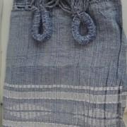 Rede de Descanso Azul Bebê Artesanal com 4 metros Casal - Pernambucana Modelo de Franja Tradicional Feita em Algodão Tear