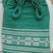 Rede de Descanso Verde Folha Artesanal com 4 metros Casal - Pernambucana Modelo de Franja Tradicional Feita em Algodão Tear