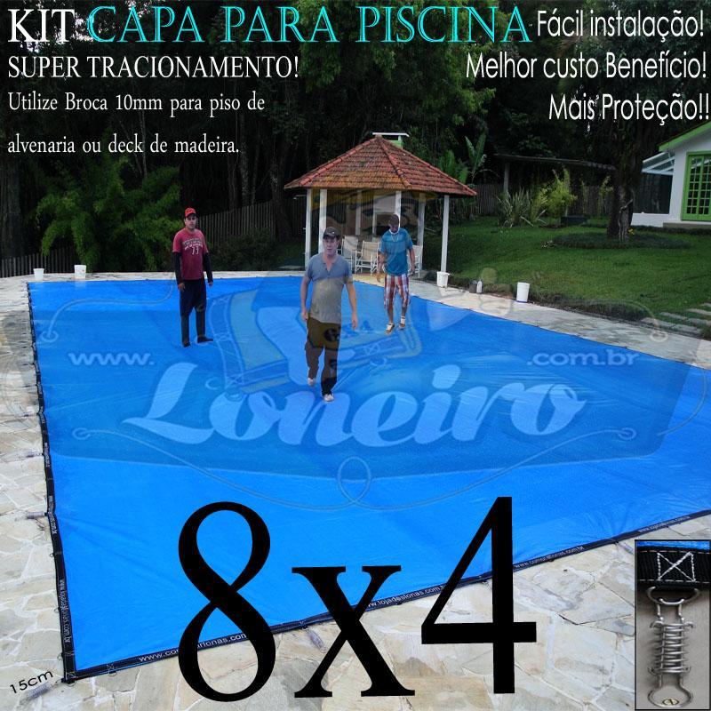 Super capa para piscina 8x4 loneiro loneiro lonas for Piscina 8x4 profundidad