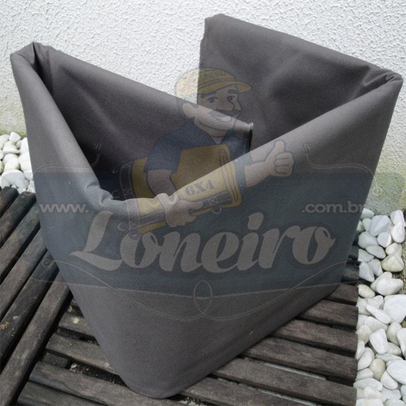 Tecido Encerado Cinza Lona 08 Forte de Algodão 5,0 x 1,57m = 7,85m²